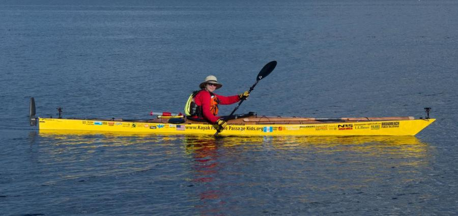 Deb Walters and Kayak for Safe Passage Kids